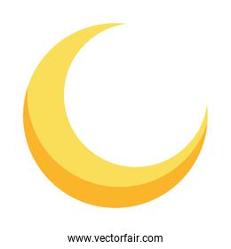 moon crescent phase isolated icon