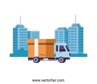 truck delivery service on the city