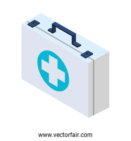 medical kit medicine isolated icon