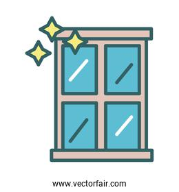 window clean fill style icon