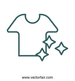 shirt clean line style icon