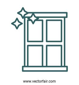 window clean line style icon