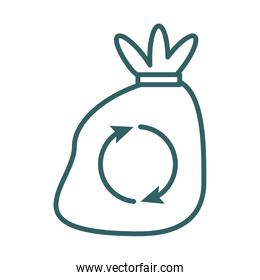 garbage bag line style icon