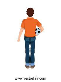 dear father with soccer balloon