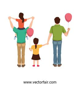 dear fathers with daughters and balloons helium