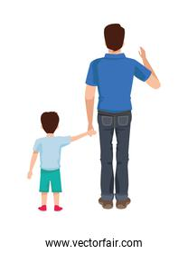 dear father with son avatars characters
