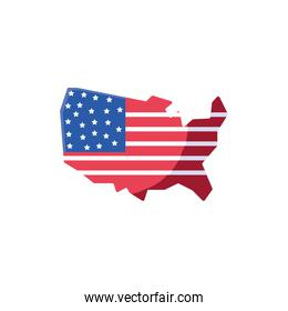 Isolated usa flag map vector design