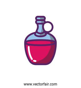 Isolated wine bottle vector design