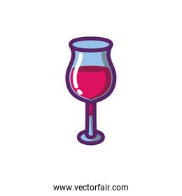 Isolated wine cup vector design