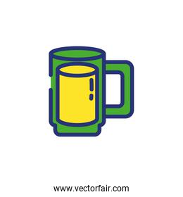 Isolated glass of beer vector design