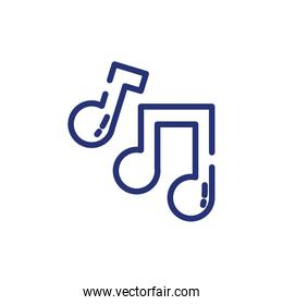 Isolated music notes icons vector design