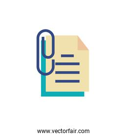 Isolated data document and clip vector design