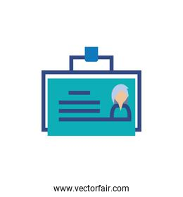 Isolated office id card vector design