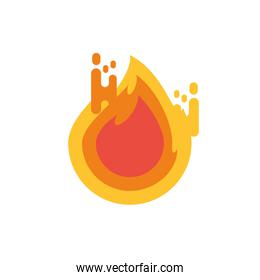 Isolated flame icon vector design