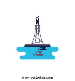 Isolated oil refinery vector illustration