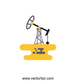 Isolated oil refinery vector design