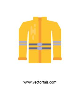 Isolated firefighter jacket vector design