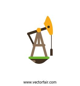 Isolated oil pump vector design