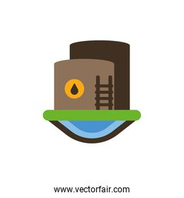 Isolated oil tank vector design