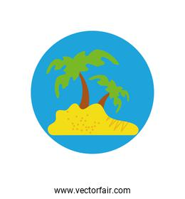 Isolated palm tree vector design