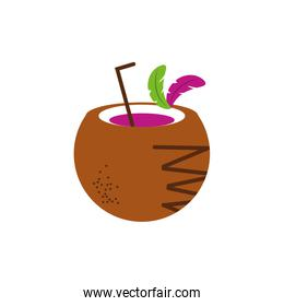 Isolated coconut cocktail vector design