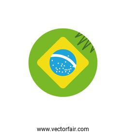 Isolated brazil flag circle vector design