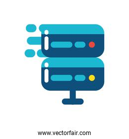 Isolated web hosting vector design