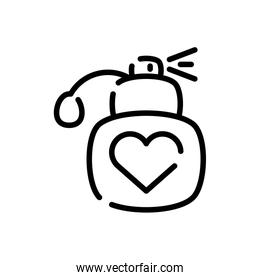 fragance bottle, line style icon