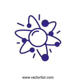 Science Chemistry Atom icon, line detail style