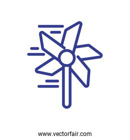 wind mill toy icon, line style design