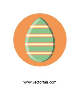 striped easter egg, block style icon