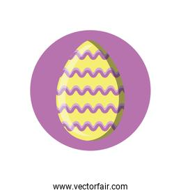 cute easter egg, block style icon