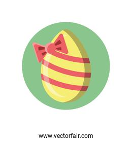 easter egg with decorative bow, block style design