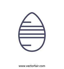 striped easter egg, line style icon