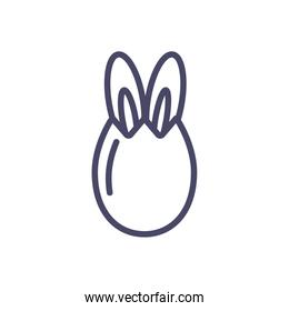 egg with rabbit ears, line style icon