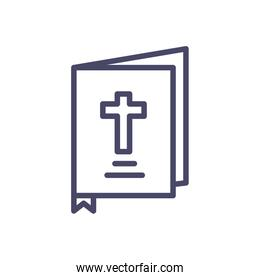 holy bible icon, line style design