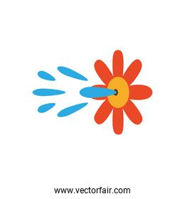 squirt flower prank, flat style icon