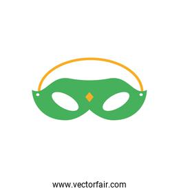 carnival mask, flat style icon
