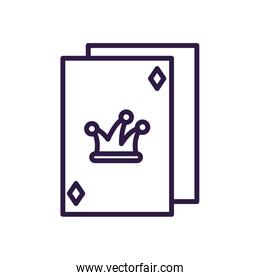 jester poker card, line style icon