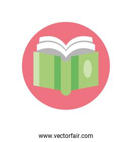 academic book icon, colorful block style