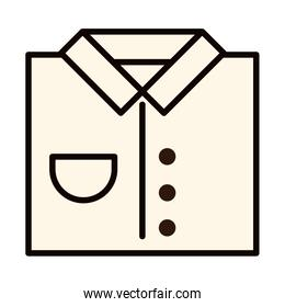 shirt clothes gift celebration line and fill icon