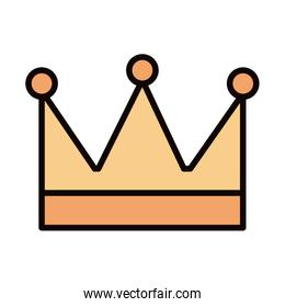 king crown decoration celebration line and fill icon