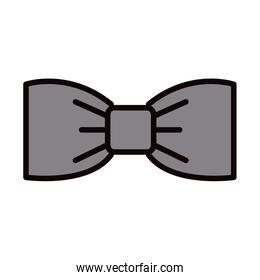 bow tie fashion decoration celebration line and fill icon