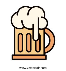 beer glass foam drink celebration line and fill icon