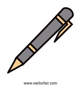 pen accessory office supply line and fill icon