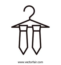 necktie in hanger clothes fashion celebration line style icon