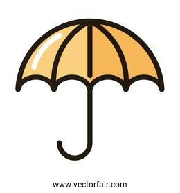 umbrella protection weather line and fill style icon