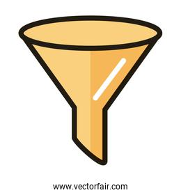 funnel internet web technology interface line and fill style icon