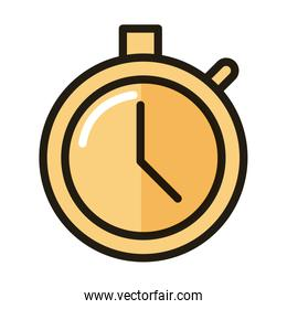 stopwatch time internet web technology interface line and fill style icon