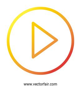 video player button internet web technology interface gradient style icon